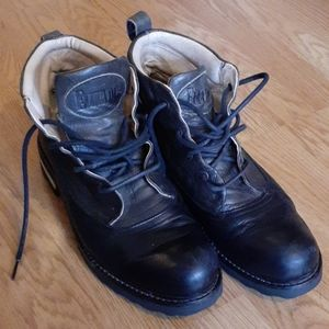 John Fluevog two tone leather boots 11